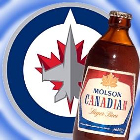 New Winnipeg Jets logo; NHL beer sponsor; $100k champagne 'warm and gross'