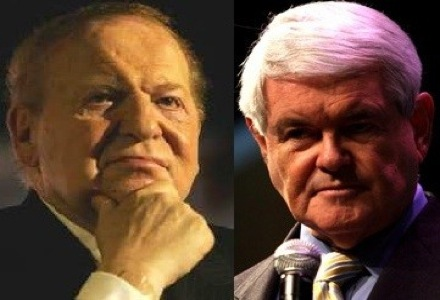 Adelson donates to Newt support group; Genting New York smashes estimates; Horseshoe Southern Indiana having bad time