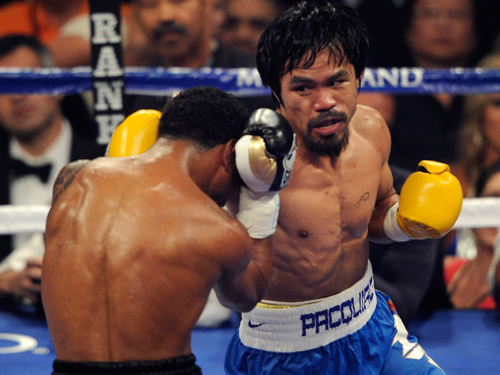 """Manny Pacquiao favored to put first """"L"""" on Timothy Bradley's record"""
