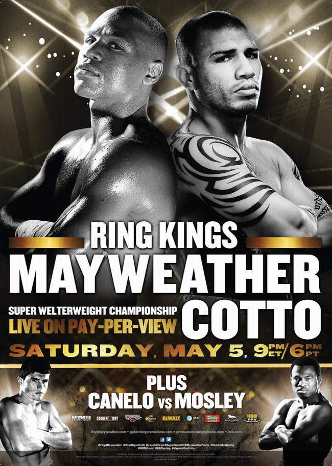 Floyd Mayweather Jr and Miguel Cotto set for May 5 collision
