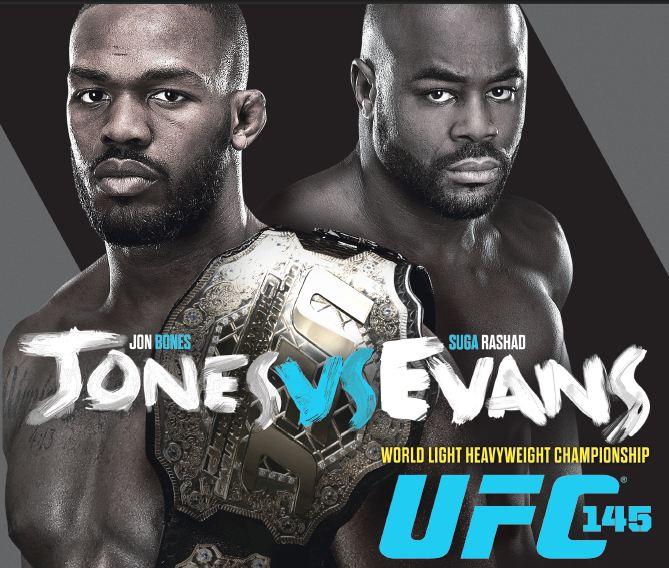 Jones-Evans main event highlights UFC 145
