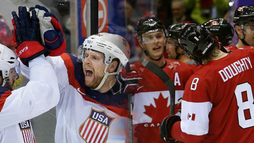 Canada meets USA in hockey semis at Sochi Olympics