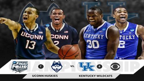 Vegas books has Kentucky as -2.5 favorites against UConn