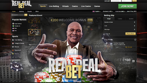 Evander Holyfield's 'RealDealBet.com' is set to be a knockout sports betting platform