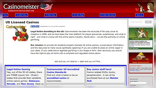 Casinomeister's USA Website Launched