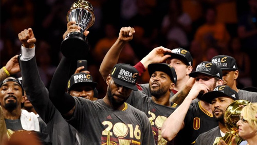 Cleveland Cavaliers win first NBA title