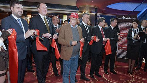 Casino FlaminGO celebrates expansion with Niki Lauda