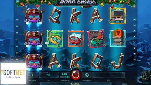 iSoftBet unleashes a Christmas cracker with new slot Robo Smash