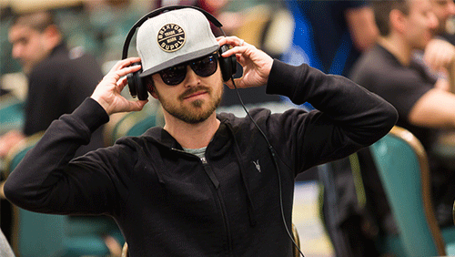 Hollywood star, Aaron Paul, joins the action at the PokerStars championship Bahamas