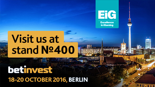 Meet Betinvest in Berlin at EIG 2016