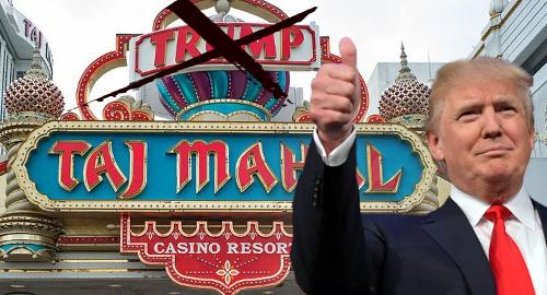Trump name removed from Atlantic City's Taj Mahal casino