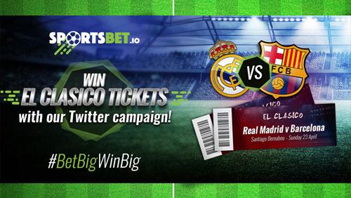 Bitcoin sportsbook Sportsbet.io giving away tickets to El Clasico