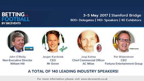 140 world class speakers confirmed for Betting on Football
