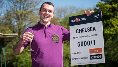 Postman Ben wins £50k with Betstars as Chelsea deliver Premier League win