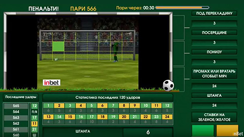 InBet games presents penalty kick, a fresh football game