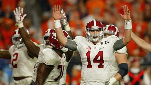 Alabama becoming bigger favorite to win National Championship