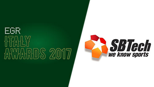 SBTech strengthens market position in Italy with win in Sports Betting Supplier of the Year category at EGR Italy Awards 2017