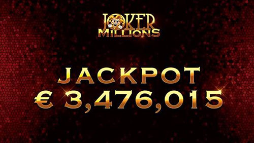 Yggdrasil's Joker Millions pays out € 3.5m jackpot