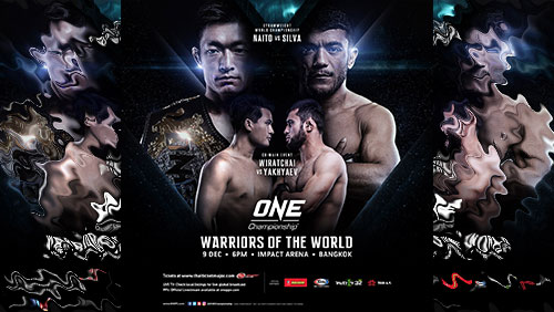Full card announced for ONE: Warriors of the World in Bangkok on 9 December