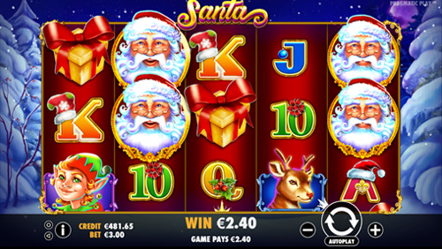 Enjoy festive fun in Pragmatic Play's Santa
