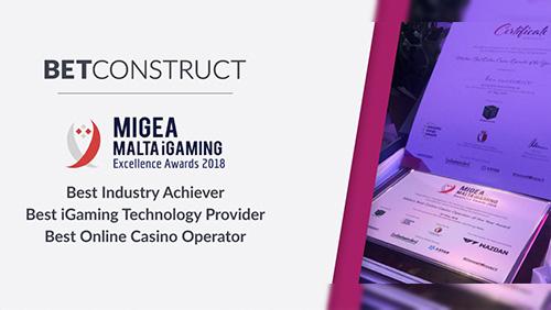 BetConstruct wins three awards at Malta's iGaming Excellence Awards