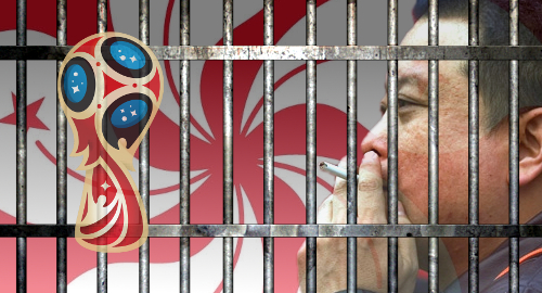 Hong Kong's prisoners wagering their lungs on World Cup