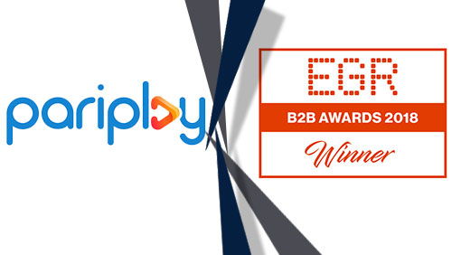 Pariplay wins 'Mobile Gaming Software' 2018 EGR B2B Award