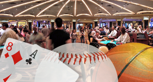 Nevada casinos buoyed by baccarat, baseball and basketball