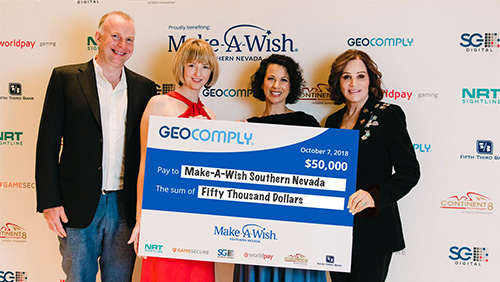 GeoComply, gaming industry partners and guests donate $50K to Make-A-Wish® Southern Nevada at G2E fundraising event