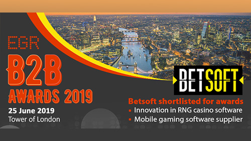 Betsoft Gaming is shortlisted in two cornerstone categories at 2019 EGR B2B Awards
