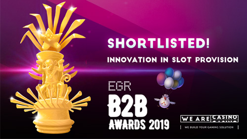 WeAreCasino shortlisted in Innovation in Slot Provision at EGR B2B Awards