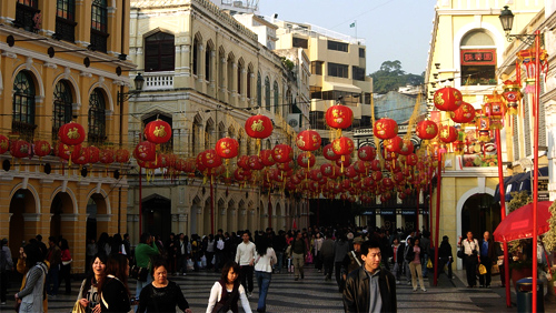 Macau continues to see big increases in tourism