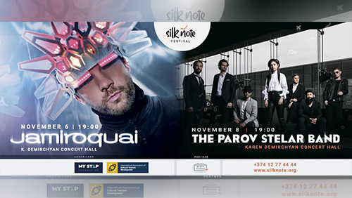 Jamiroquai, The Parov Stelar Band and Al Di Meola will perform within the framework of the Silk Note Festival