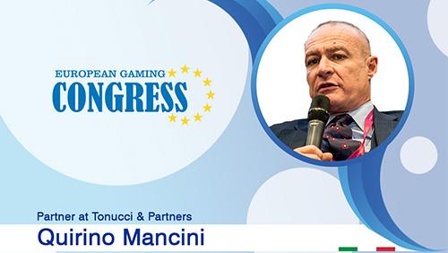 Quirino Mancini (Tonucci & Partners) takes on several roles during European Gaming Congress 2019 Milan