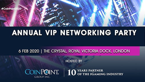 The iGaming industry meets blockchain business on February 6th 2020 during its annual VIP Networking party