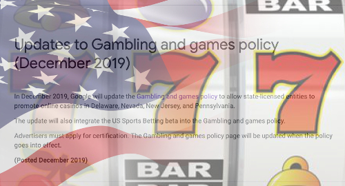 Google confirms plans to okay online casino ads in four US states