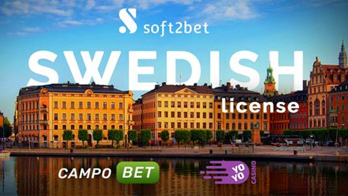 Soft2Bet obtains Swedish Gaming licence, launches two of its leading brands