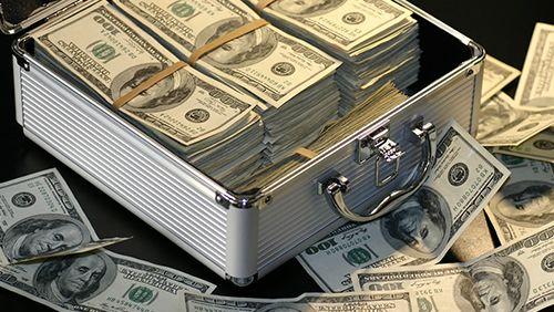 money in suitcase