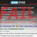Online casino affiliates gaming UK GamStop self-exclusion scheme