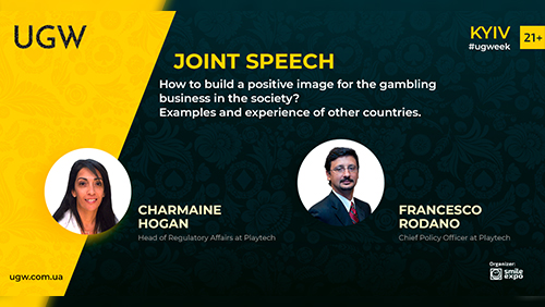 Francesco Rodano and Charmaine Hogan from Playtech to Make a Presentation at Ukrainian Gaming Week