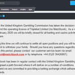 Matchbook betting exchange UK license 'temporarily' suspended