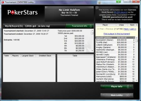 Poker sites should follow the Stars after new world record