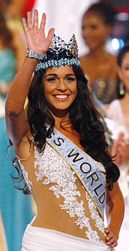 Yay! Britain wins Miss World – sort of