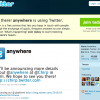 @anywhere with Twitter Javascript addon
