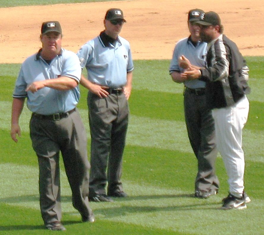 MLB Umpire Joe West Facing Ejection