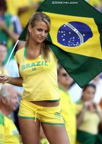 Brazil female fan