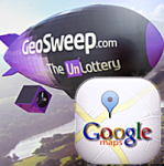 GeoSweep online lottery picks winners using Google Maps