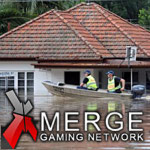 Australian floods temporarily close Merge Gaming Network offices