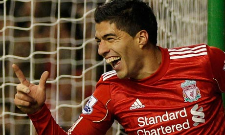 Suarez the toast of Merseryside