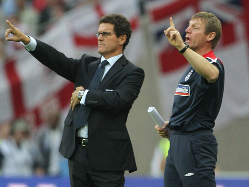 Fabio Capello leads England into Cardiff